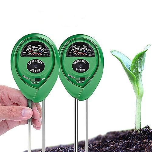 Mya Testeur Dhumidit/é Sol Humidim/ètre Testeur Dhumidit/é du Sol Vert Portable Outil de Jardinage Fleur de Plante